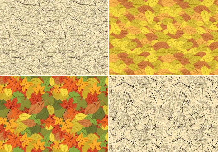 Seamless Leaves Pattern Pack