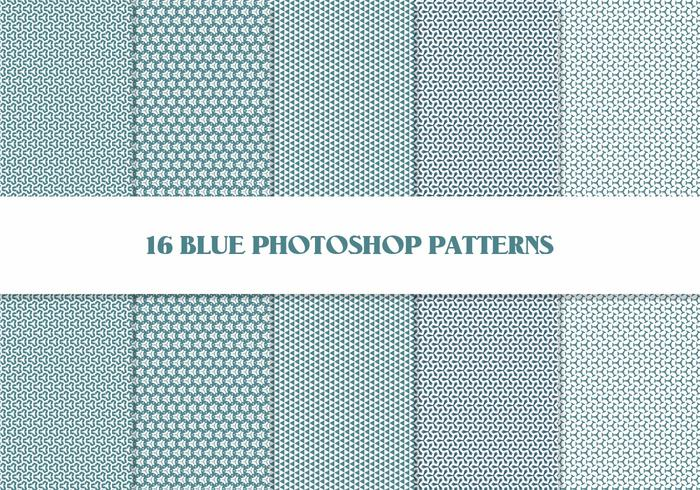 16 photoshop blue patterns v.2