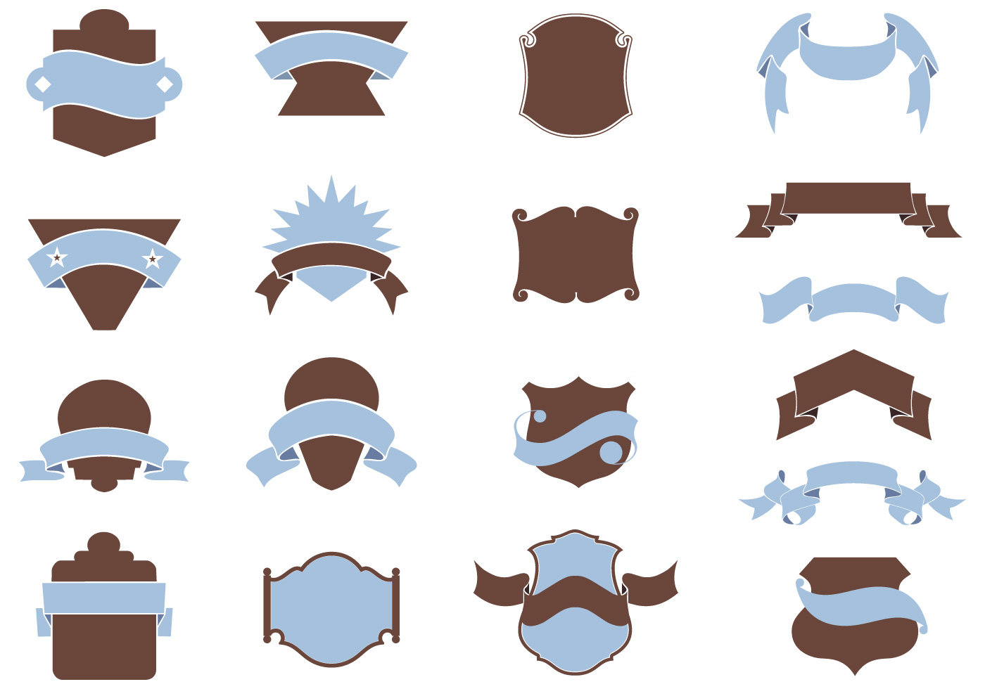 Heraldry Shield Brushes Pack