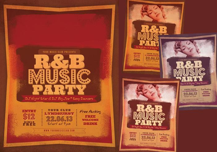 R & B Music Party PSD Flyer