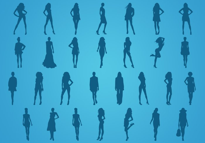 Fashion Silhouettes Shapes Models