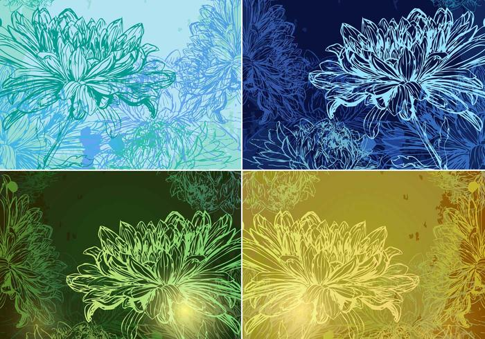 Glowing Floral Backgrounds Pack