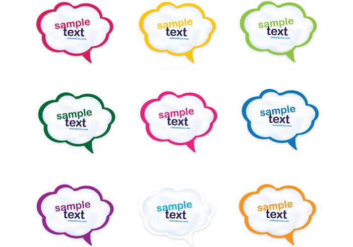 Formas de la burbuja del discurso