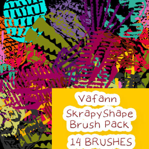 Vafann Handmade Skrapy Shape Brush Pack