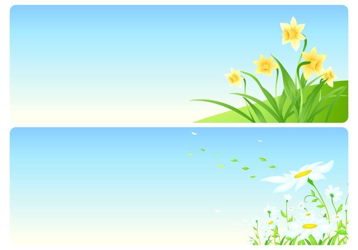 Pack de fond de printemps floral