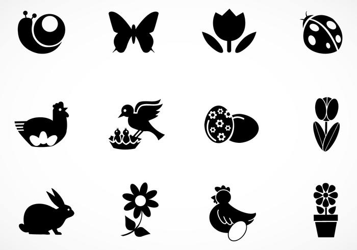 Easter Brush Icons Pack