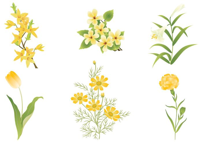 Yellow Flower Brush Pack