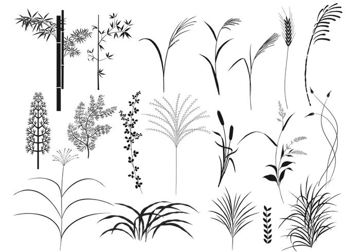 Reeds and Grass Brush Pack