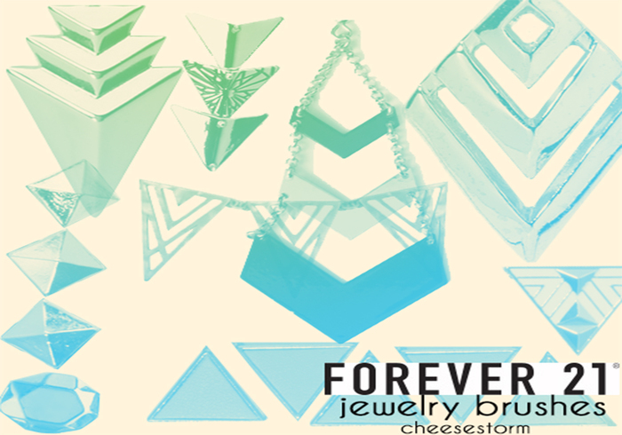 Geometric Jewelry Brushes