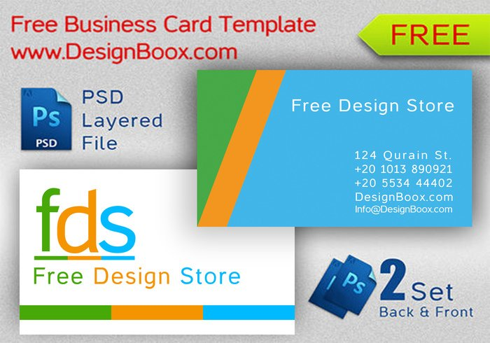 Free Design Store Business Card Template
