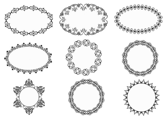Vintage Ornate Frames Brushes