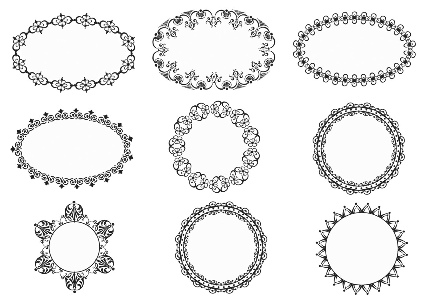 White Ornate Frame Png