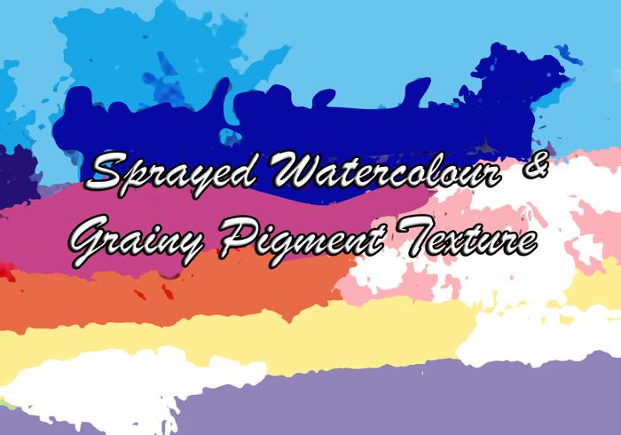 Texture de l'aquarelle pulvérisée / texture du pigment granuleux