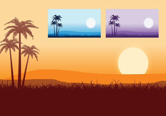 Tropische Zonsondergang Wallpaper Pack
