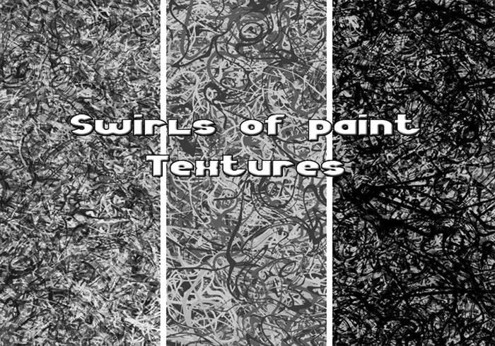 Redemoinhos de texturas de tinta