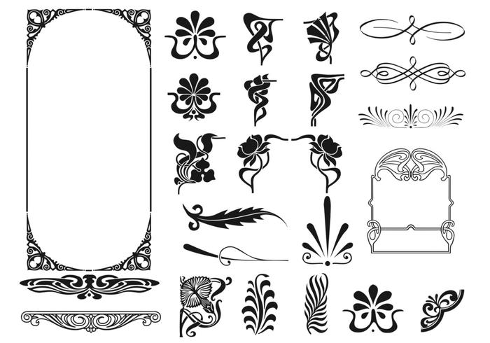 Art Deco Frame en Corner Brush Pack
