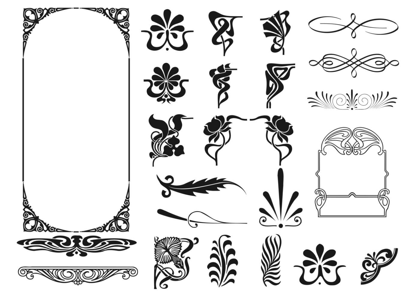 Art Deco Rahmen und Eckpinsel - Kostenlose Photoshop-Pinsel bei ...
