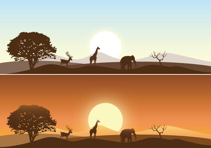 African Sunrise Landscape Wallpaper and Brush Pack