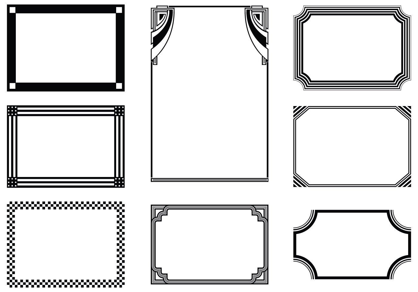 Graphic Frames Brushes Pack - Free Photoshop Brushes at Brusheezy!