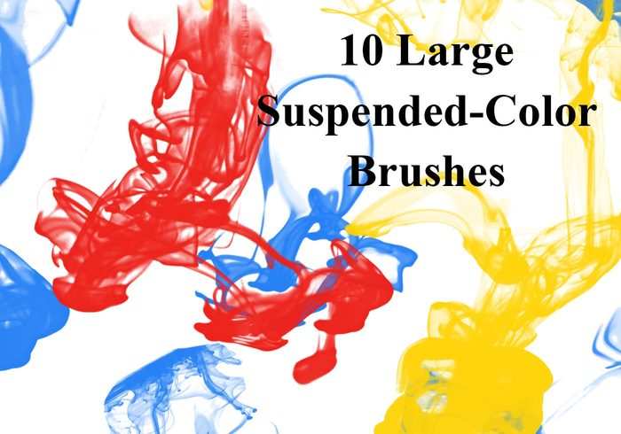 Suspended Color Ink Drop Brushes