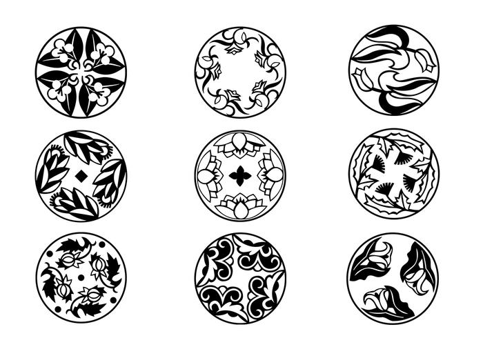 Circular Flourish Ornament Brushes