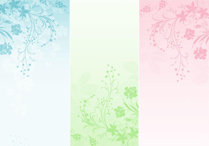 Pastell Floral Banner Pack