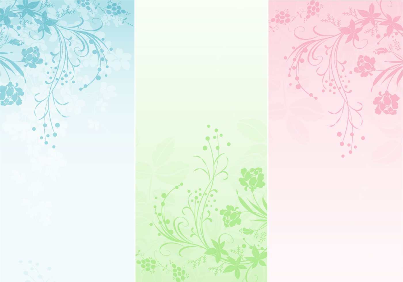 pastel floral banner pack