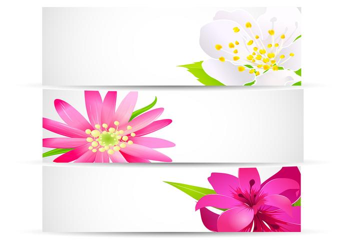 Bright Floral Banner Pack