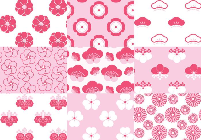 Japanese Blossom Floral Patterns