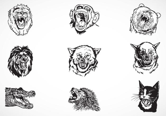 Fierce Animal Brushes Pack