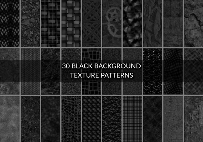 30 Black Background Texture Patterns