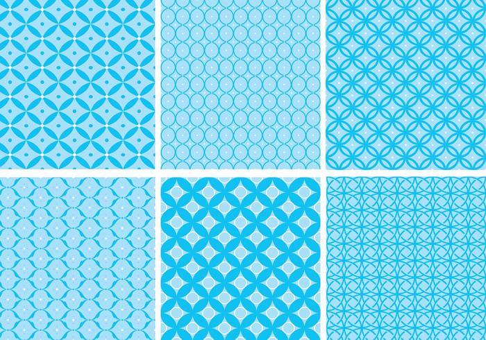 Kreisförmige blaue Musterpackung