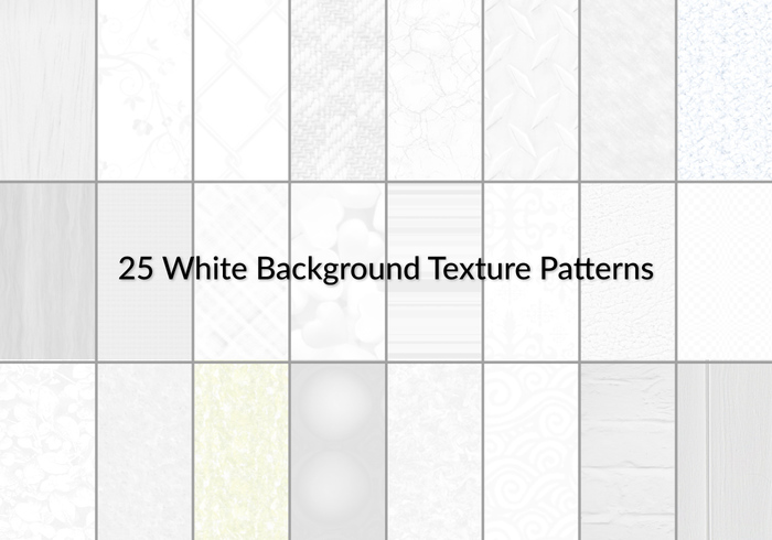 25 White Background Texture Patterns