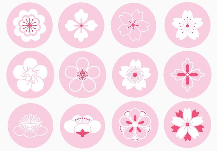Japans Bloemen Ornament Borstels Pak