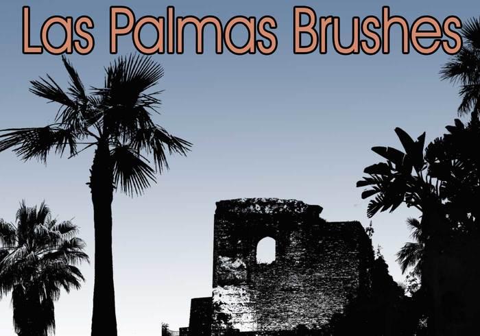 Las Palmas Palm Tree Brushes