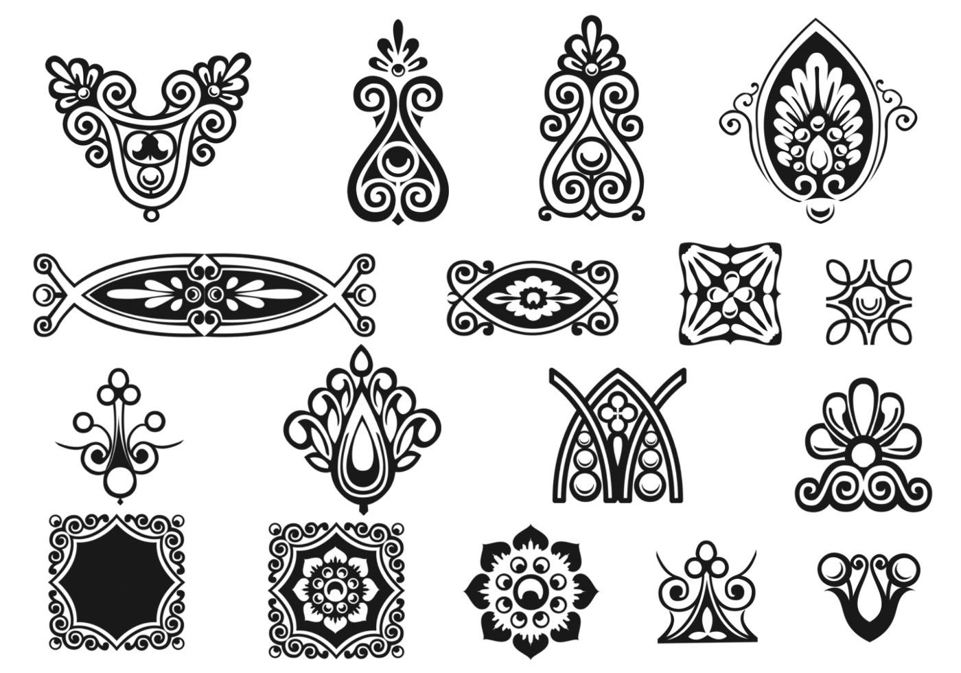 Victorian Ornament Brushes Pack Free Photoshop Brushes