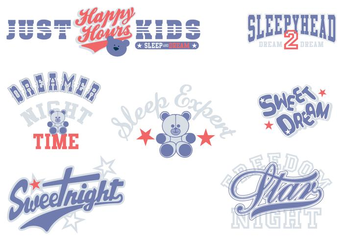 Sweet Dreams Typography Brushes Pack