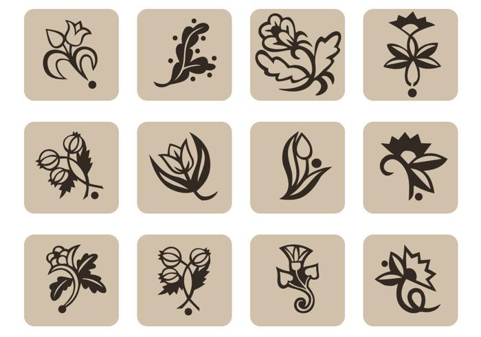 Floral Icons Brush Pack