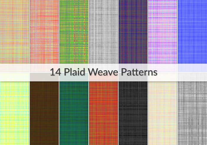 14 padrões Plaid Checkered