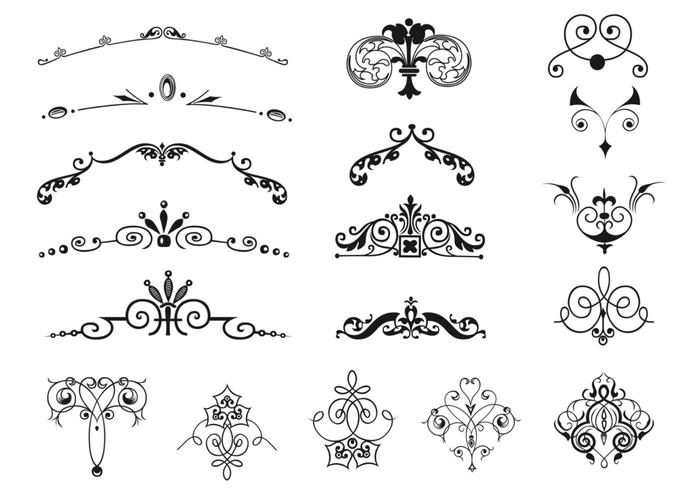 Ensemble Vintage Vintage Border and Ornament Brushes Pack