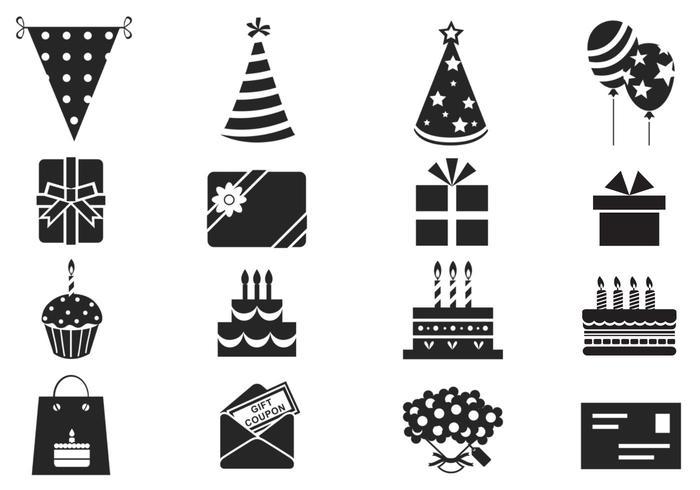 Verjaardag Penselen Symbol Pack