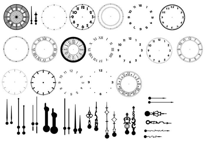 Clocks Kit Brushes