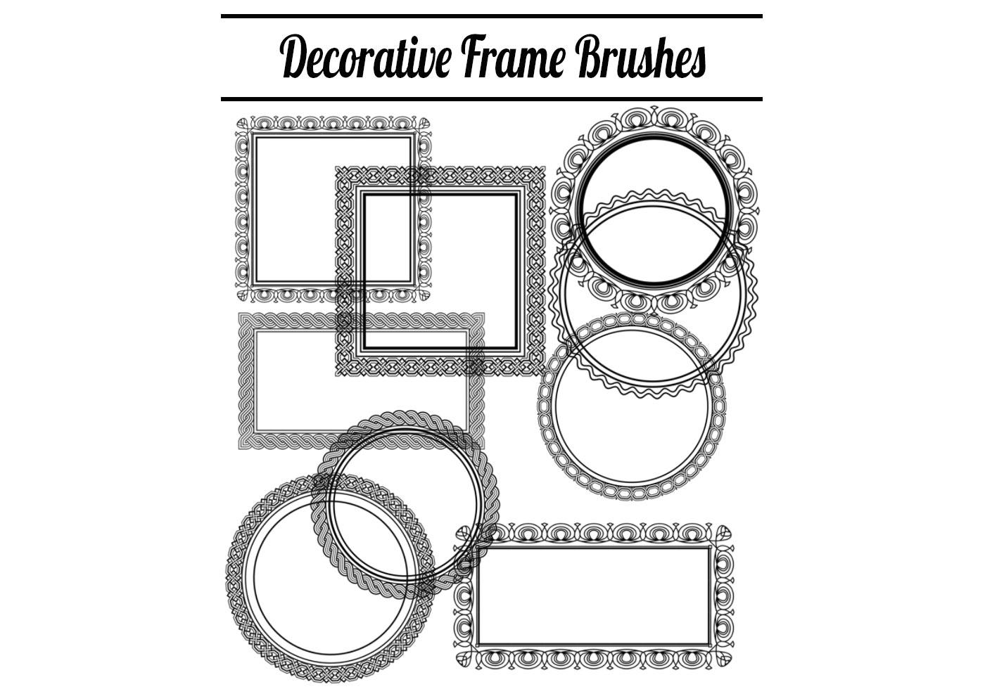 Decorative Frame Brushes Free Photoshop Brushes At