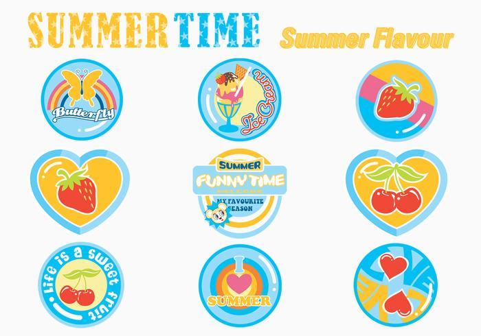 Pacote de pinças de etiqueta de verão
