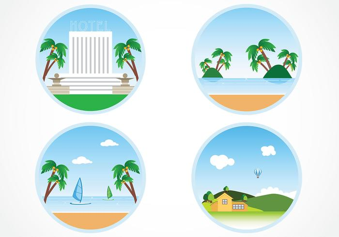 Circular Summer Holiday Backgrounds