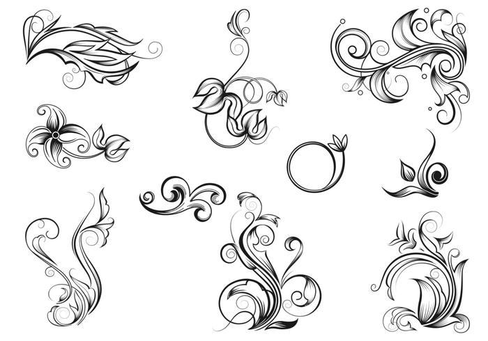 Ensemble de pinceaux Flourish Drawn