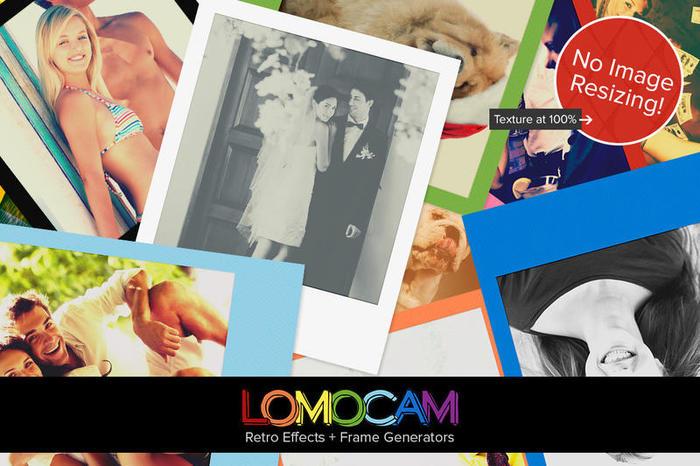 Lomocam - Efectos Retro y Acciones del Generador de Bases Polaroid