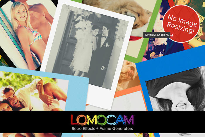 Lomocam - Retro Effecten & Polaroid Frame Generator Acties