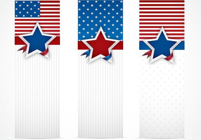 USA Banner Bakgrund Pack
