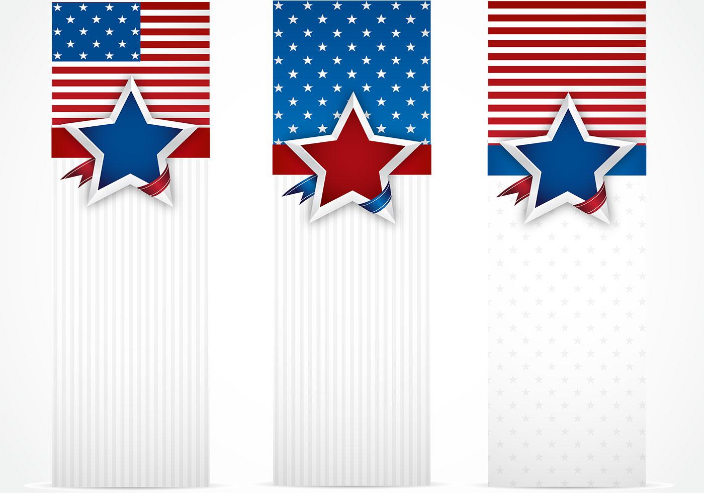 USA Banner Hintergrund Pack - Kostenlose Photoshop-Pinsel bei Brusheezy!